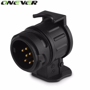 Power socket adapter 12V   124; plug, trailer cable, truck cable routing, electrical converter, plastic connector, black 13-7 plug