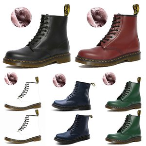 luxury Designer Boots Damenstiefel Winter Snow Booties Doc Schuhe Martin Sneakers Triple Schwarz Weiß Rot Grün Blau Herren Damen Stiefel Chaussures Größe 36-44