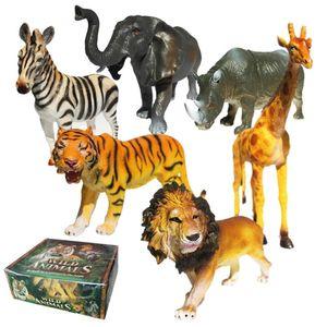 6 adet / takım Vahşi Orman Dinozor Hayvanlar Model Action Figure Set Figürinler Çocuklar Oyuncak Çocuklar Için Yaban Hayatı Oyuncak
