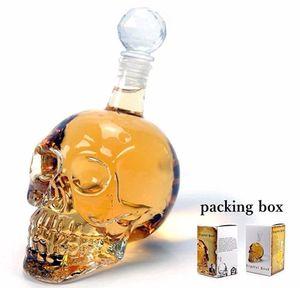 Creative Crystal Skull Head Bottle Whiskey Vodka Wine Decanter Bottle Whisky Glass Beer Glass Spirits Cup Water Gla bbyAHm bde_luck