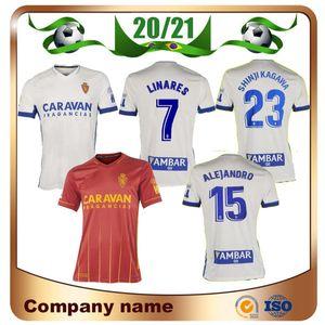 2020 Real Zaragoza # 23 SHINJI Кагава футбол Джерси 20/21 Главная 21 Сапатер футбол рубашка JAVI ROS ПОМБО МИГЕЛЬ ALEJANDRO RED Футбол Равномерное