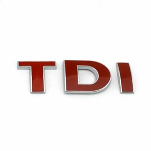 1Pc Lot Free Shipping ABS TDI Emblem Badge Sticker Nameplate
