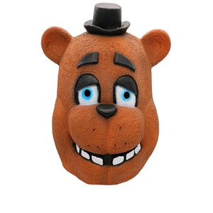 Костюм Чика Five LATEX Фредди Маска FNAF Freddy Foxy Медведь Fazbear Y200103 На товары Маски Halloween Party Cosplay лица ночи Sktah