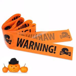 Línea de advertencia de Halloween Muestras de cinta PRECAUCIÓN Cinta Peligro Línea de advertencia Decoración de fiesta Haunted House Props FWF1544