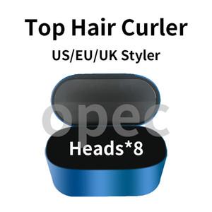 2021 AIR COMPLETO COMPLETO MULTIFONA DE PELO MULTIFING Dispositivo de peinado Curiador de pelo Caja de regalo de hierro de 8 cabezas