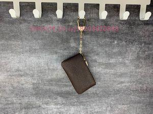 Venda Hot alta qualidade CHAVE malote de couro clássico Unisex Bolsas Womens Mens Chaveiro Coin Purse Mini bolsa carteira Bolsas Atacado 4 cores
