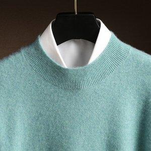 ZoCept Men's Sweater 2020 Outono Inverno Casual Meia Turtleneck Tricotado Jumper Moriço Cor Sólido Cashmere Pullovers
