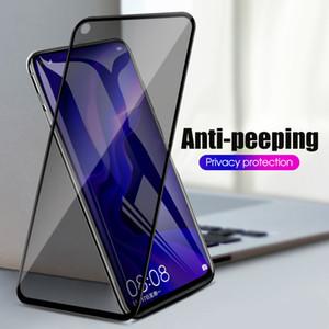3D Anti Spy Peep Glass Temperato su Huawei Y9 Y7 Prime Y5 Y6 2019 2018 Y8S Y6P Mate 30 20 x 10 Protezione schermo Lite Pro