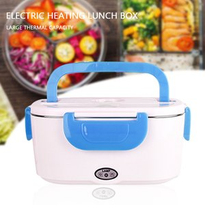 110 220v Portable Electric Heating Lunch Box Food-Grade Food Warmer Heater Rice Container Stainless Steel Dinnerware Sets 201016