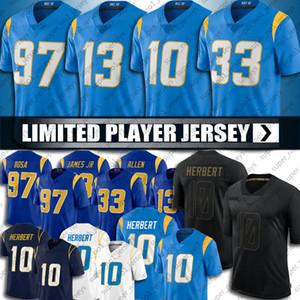 10 Justin Herbert Jesrsey 13 Keenan Allen Football Jesrsyys 30 Austin Ekeler Jesrsey 97 Joey Bosa Jesrsyys Salute to Service Jersey