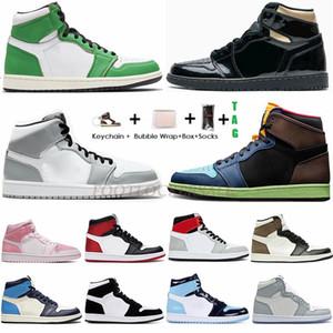 Bio Hack Nike Air Jordan Retro 1 Nike Jumpman 1 Mid Snake Chicago Hoch Travis scotts Low Paris 1s-Basketball-Schuhe Männer Frauen UNC Rauchgrau Abbindebatik Sport Turnschuhe 36-47