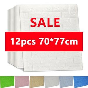 3D Wall Stickers Imitation Brick Bedroom Decor Waterproof Self-adhesive Wallpaper For Living Room Kitchen TV Backdrop Decor70*77 201130