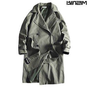 Casual Erkek rüzgarlıkları Katı Renk Erkekler Moda Dış Giyim JP62 Palto Misniki 2019 Yeni Trençkot Ceket