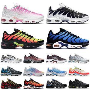 nike TN air max plus shoes uomo donna scarpe da corsa scarpe da ginnastica moda triple nero bianco Hyper Sky Blue Supernova Sail Digital Pink sneakers sportive da uomo outdoor