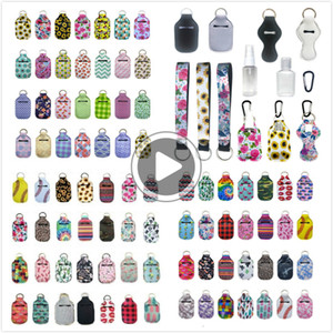 163 Styles Customize Neoprene Hand Sanitizer Bottle Holder Keychain Bags 30ml Hand Sanitizer Bottle Chapstick Holder With Baseball Keychains
