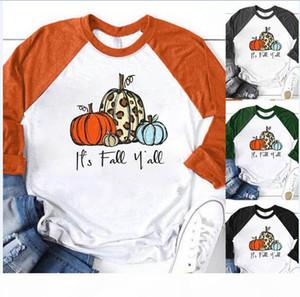 Para mujer de la calabaza camiseta Casual O Cuello del partido Festavil manga larga atractiva de las mujeres sobre el tema
