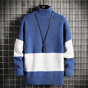 Nova Primavera Outono Sweater Masculino Streetwear Japão Camisola Estilo Homens Casuais Harajuku Manga Longa Roupas Masculinas Turtelneck