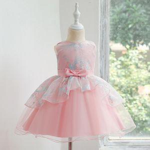 Hot Sales Infants Children Wedding Dresss Princess Dresss Girls Irregular Embroidery Puffy Dress Washing Water Formal Dress