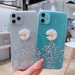 Chrysanthemum DIY Telefon Shining Çiçek Glitter Kılıf Sequins Sanstar A10 A20 A30 A70 A70 A80 A90 A7 S9 S10 S20 Artı C