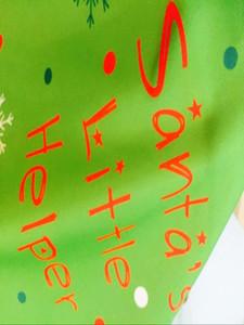 1pc de Noël Tablier Père Noël Little Helper Tablier de Noël Elf Pinafore manger Parti Table Décor Nouvel An Fournitures de Noël Tablier bbyaHb
