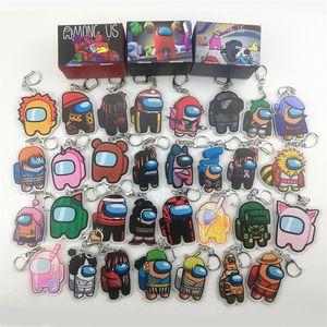 디자이너 키 체인 게임 중 키 체인 애니메이션 귀여운 만화 아크릴 다채로운 키 링 키 체인 자동차 키 장식 액세서리 E121608