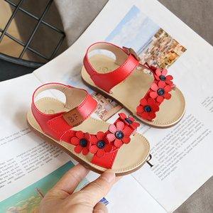 Skhek meninas toddler bebê floral sola crianças princesa sapatos praia verão sandálias para crianças j0301
