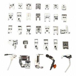 Pés 32PCS Presser Conjunto acessórios para máquina de costura Low Shank Bordados Artes Máquina, Artesanato Costura TB Venda FH50 #