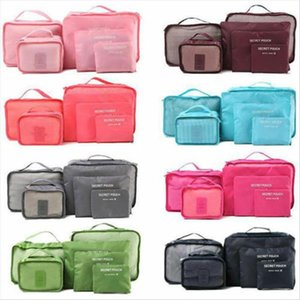 6pcs Waterproof Travel Storage Bag Clothes Packing Cube Luggage Organizer Sets Nylon Home Storage Travel Pouch Portable Bags
