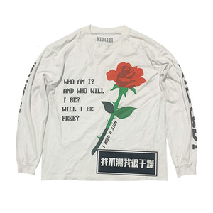 Je n'aime pas le CP K K K Fidong Même Fog High Street Rose T-shirt à manches longues imprimée à manches longues pour hommes
