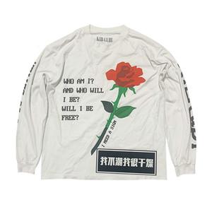 Rose comme pour cp k haute fidong idene k ne pas rue i mousse imprimée manches longues t-shirt brouillard hommes épumi