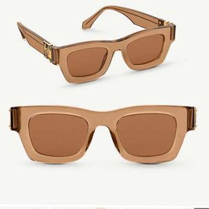 2021SS Official Latest Color Z1415W Fashion Sunglasses Millionaire Square Frame Top Quality Continuous Retro Decorative Glasses with box
