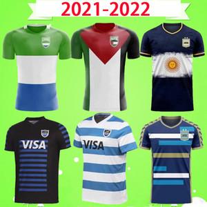 2021 2022 Rugby Ligi Jersey Arjantin Filistin Sierra Leone Ulusal Takım Rugby Gömlek 21 22 Futbol Mens T-shirt Futbol Kavramı Versiyonu