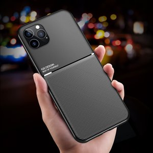 2020 New Carbon fiber matte TPU Shockproof Case for iPhone 12 11 Xs Max XR 7 8 Samsung S20 FE Magnetic Car Mount