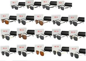 de lujo de alta calidad de las gafas de sol UV400 gafas de sol deportivas para hombres y mujeres gafas de protección solar de verano al aire libre de la bicicleta sol de cristal de 19 colores Free sh