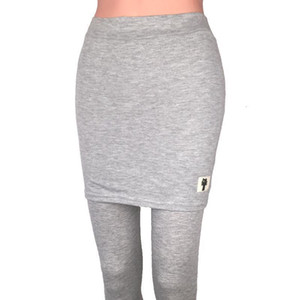 Fake zweiteilig Packung Hüfte Rock Leggings Frauen Hosen Skinny Bleistift Hosen Mode All Match Lady Drop Shipping