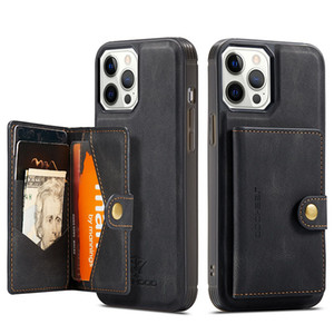 Luxury Leather Phone Case For iPhone 12 11 Pro MAX XS XR XS MAX 7 8 Plus Magnetic Flip Wallet Detachable Back Cover