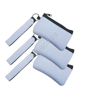 La sublimación de bricolaje de impresión en blanco Etiqueta de identificación de Transferencia de Calor neopreno de la impresión de la moneda Mini monedero de múltiples funciones del mitón carteras bolsos F102306