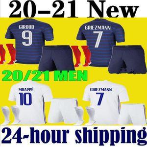 الرجال الاطفال mbappe كرة القدم الفانيلة أطقم الطفل 2020 2021 grizmann بوغبا قميص كرة القدم 20 21 pavard kante الكبار الأولاد مجموعة كاملة موحدة