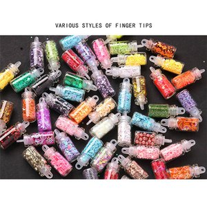 Colorful Mixed Nail Art Sequins Glitter Nail Powder Pigments 3d Ultra-thin Sticker Flakes Manicure Decorations Set