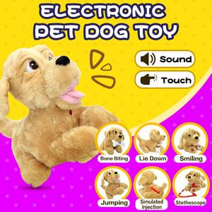 Son contrôle Enfants en peluche Sound Control Jouets électroniques Bark interactif chien pour bébé Cadeaux électroniques Robot Dog LJ201105