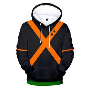 Fashion My Hero Academia Bakugou Katsuki 3D Printed Hoodies Sweatshirts Casual Hooded Hoodie School Uniforms
