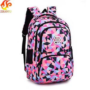 Ziranyu Girl School Bag Impermeable Light Peso Girls Mochila Bolsos Impresión Mochila Mochilas infantiles para la niña adolescente T200114