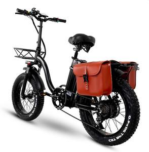 Y20 Katlanır Elektrikli Kar Bisikleti, 750W Motor, 48 V 20AH Pil, 20 Inç Dağ Bisikleti Yağ Bisiklet, Pedal Yardım E-Bike Sepet