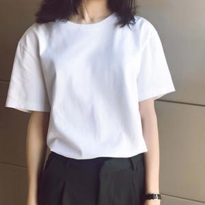 2020s de primavera e verão novo de alta grau de algodão de impressão de manga curta redondo painel de pescoço T-shirt Tamanho: M-L-XL-XXL-XXXL Cor: preto branco cvy