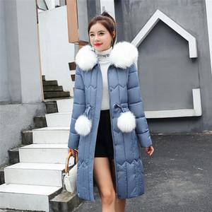 Womens Down Jackets Ultra Light Women Winter Warm Hooded Thick Faux Fur Warm Slim Jacket Long Overcoat Coat Winter Jacket Women