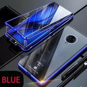 Double Sided Glass Magnetic Case For Vivo Nex 3 5g Pro Alumium Metal 360 Degree Full Cover Case For Oppo Reno H jllEKG