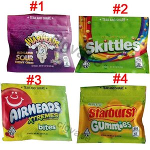Empty Medicated Skittles WARHEADS AIRHEADS Xtremes Starburst Sour Skittles Gummies Bag Medicated Candy bags Packaging Edibels packing bag