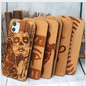 Factory Custom Engraving Designs Wood Case For New Iphone 11 11 pro 11 pro max XR XS 7 PLUS Mobile Phone Cover Back Shell Fast Shipping