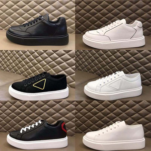 Yeni 2020 Erkekler Prada Siyah Beyaz Platformu Düşük En Sneaker Mesh Casual Ayakkabı Lady Moda Karışık Nefes Hız Eğitmenler Boyut 38-45 Koşu