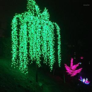 LED LUDE DE SABLO ARTÍFICA LUGAR LUZ DE ÁRBOL DE ÁRBOL DE VERDIENTES 3M / 9.8FT Altura 2304PCS LEDS A prueba de lluvia Decoración navideña Tree a prueba de agua1